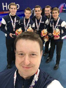 Mark Lazar of MedNetOne with silver medal winning curling team - Team Stopera 2-26-17